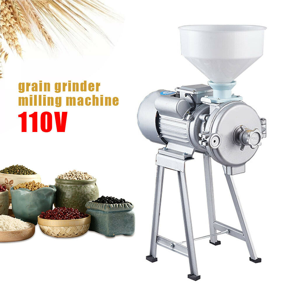 Commercial Grinder Dry and Wet Grain Soybean Grinder Milling Machine Electric Grain Mill Grinder 110V 2200W
