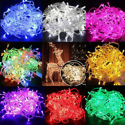 100/200 LED Christmas Tree Fairy String Party Lights Lamp Xmas Wedding Decor ()