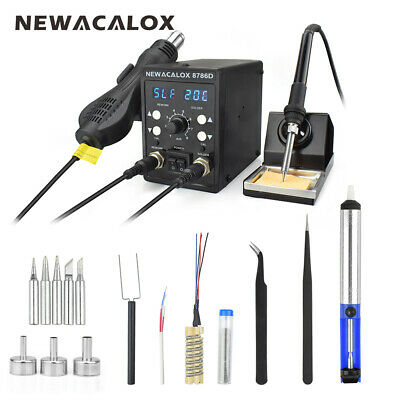 2in1 110v220v 750w Digital Soldering Iron Station Desoldering Hot Air Gun Smd
