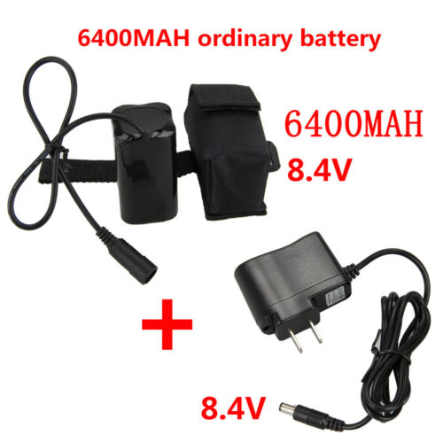 2pcs Rechargeable Universal 8.4V 16000mAh Battery For X2 X3 Bicycle Bike Light