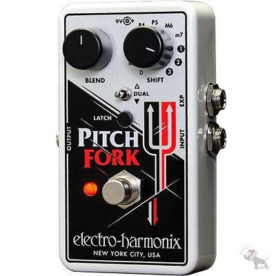 Electro Harmonix Pitch Fork Harmonizing Pitch Shifter Guitar Effects Pedal Ehx