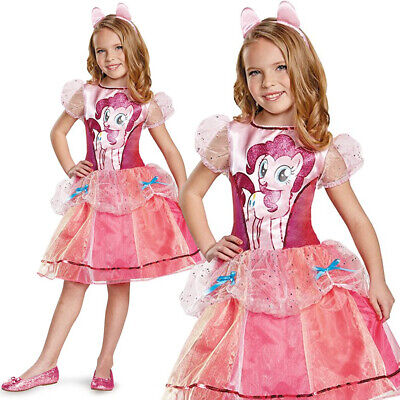 GIRLS PINKIE PIE DELUXE COSTUME MY LITTLE PONY CHILDS KIDS FANCY DRESS OUTFIT ()