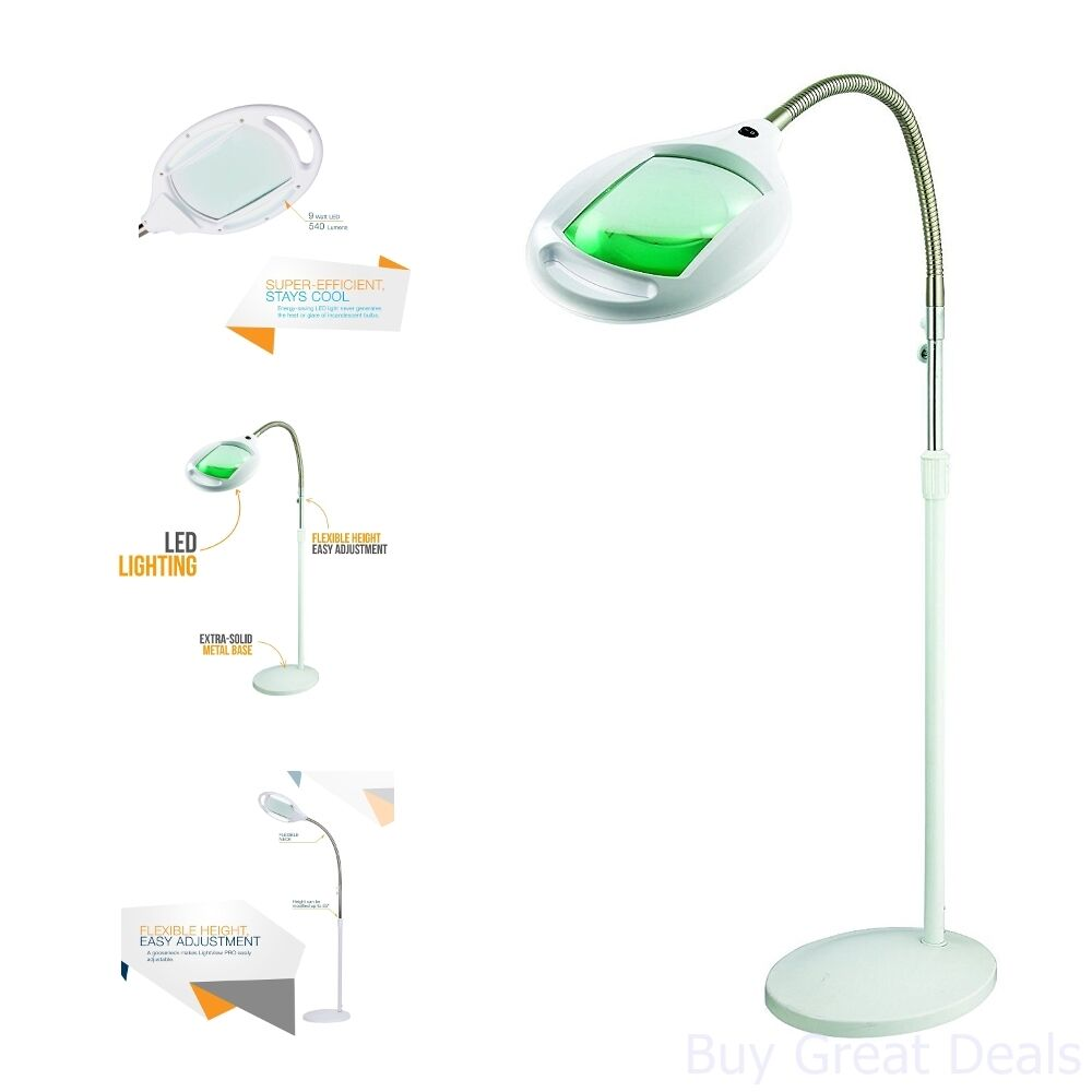 Brightech LightView Pro LED Magnifying Glass Floor Lamp - Ma