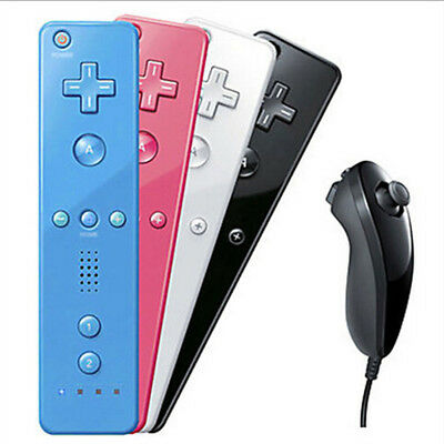 Motion Plus Remote And Nunchuck Controller Set + Case For Wii & Wii U Games - US