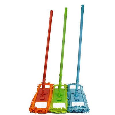 Microfiber Noodle Mop Dust Mop w/ Handle Telescoping Pole Floor Cleaner