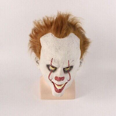 IT Pennywise Mask Stephen Kings Horror Clown Joker Halloween Cosplay Costume](Halloween Joker Mask)