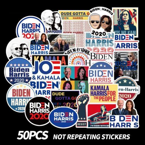 50 pcs Joe Biden & Harris 2020 President Campaign Stickers for Democratic Party