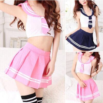 Girl Cosplay Costume Women Sailor Uniform Outfit Fancy Dress (Japanese School Girl Hot)
