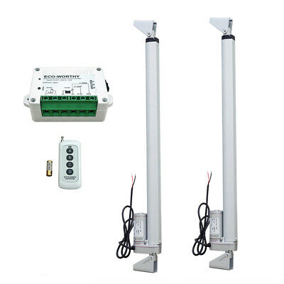 2 Set Linear Actuator 300 450mm Remote Controller 12v Electric Motor 1500n Lift