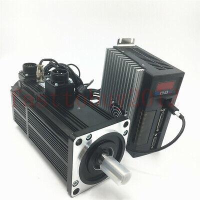 Brake Ac Servo Motor 1kw 4nm Nema32 Drive Amplifier 220v Cwccw Z Axis Milling