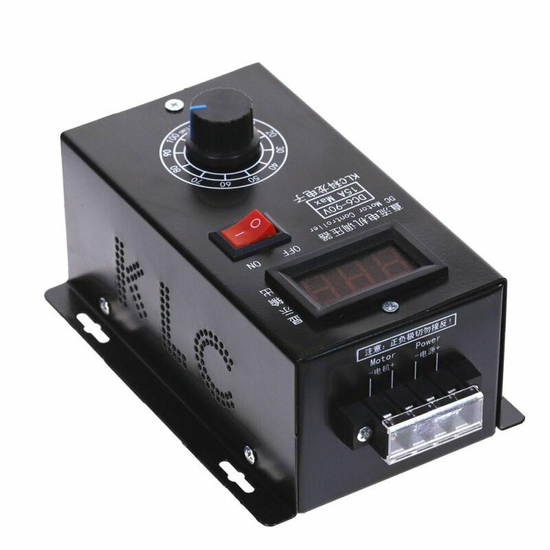 DC 6-90V PWM DC Motor Speed Controller Regulator PLC 15A Governor Volt Display