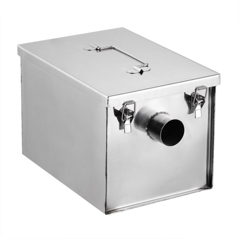 Stainless Steel 8 lb 5 GPM Gallons Per Minute Grease Trap Interceptor