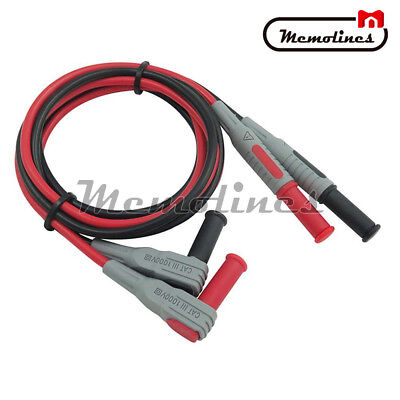 4mm P1033 Banana To Banana Plug Soft Silicone Test Cable Lead For Multimeter