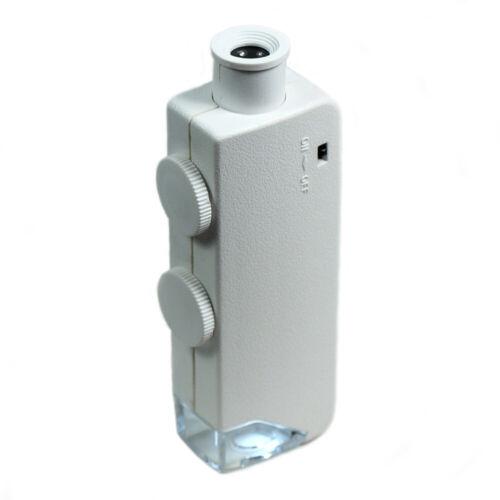 Mini illuminated Jewelers Loupe 160X - 200X  Lighted Microscope Magnifying Glass