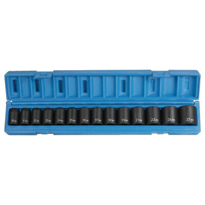 Grey Pneumatic 14-pc 12 Dr. 6-pt Metric Std Socket Set 1412m New