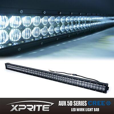 """Xprite 5D 50""""  288W LED Light Bar w/ Mounting Bracket Jeep Wrangler JK Rubicon"""