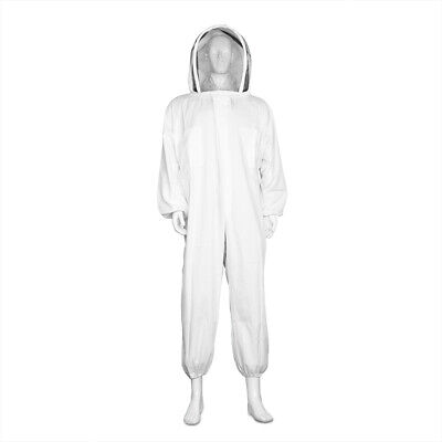 Beekeeping Suit Full Body - Beekeeper Coverall Outfit With Veil Large