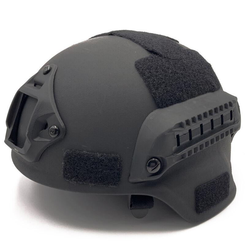 UHMW-PE Bullet Proof MICH 2000B Level IIIA Safety Ballistic Helmet Black