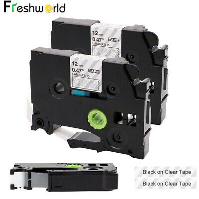 2PK TZe-131 TZ Compatible Brother P-touch Label Tape Refills Clear 12mm PT-D210 Brother P-touch Label Tape