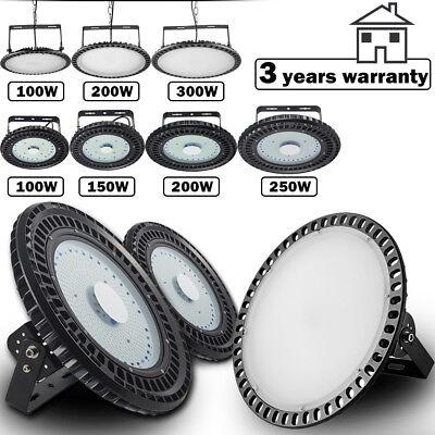 300W UFO LED High Bay Light 250W 200W 150W 100W Factory Warehouse Shop Lighting