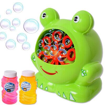 Máquina de Burbujas Bubble Máquina Rana Boda Infantil Dj Fiesta Rellenador