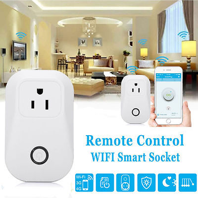 New Smart WiFi Remote Control Timer Timing Switch AC Power Socket Outlet US Plug