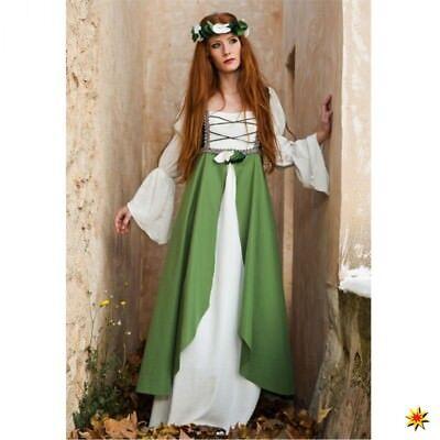 Kostüm Burgfräulein Gr. S- XXL Mittelalter Kleid grün Hofdame Fasching Karneval