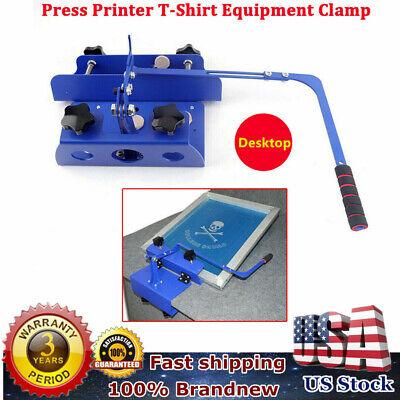 Silk Screen Printing Machine Chunk Clamp Press Kit Set For T-shirt Diy Printer