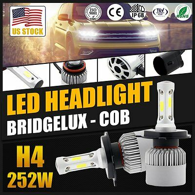 252W 25200LM LED H4 9003 HB2 Headlight Kit High/Low Beam Head Fog Light Bulbs US