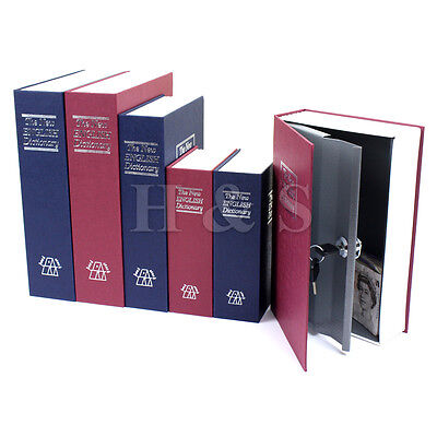 Secret Dictionary Book Travel Safe Security Key Lock Money Cash Jewellery Box