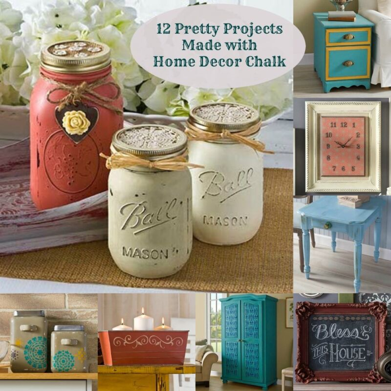12 pretty projects made with home decor chalk ebay