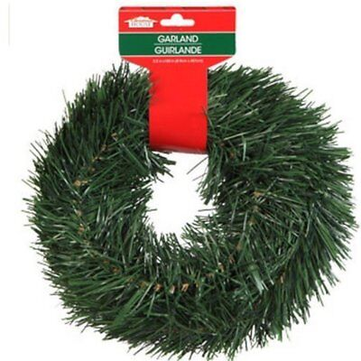 Christmas House 15 FT Wired Holiday Green Pine Garland Decor Indoor/Outdoor - Outdoor Christmas Garland