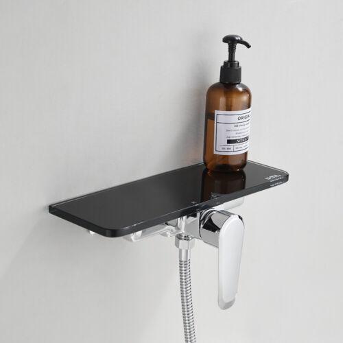 Duscharmatur Wand Badewannenarmatur mit Ablage Mischbatterie Bad Einhebelmischer