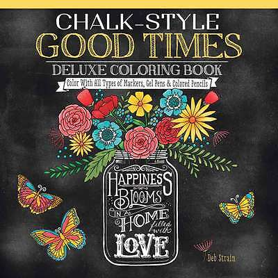 Fox Chapel Publishing Chalk-Style Good Times Coloring Book