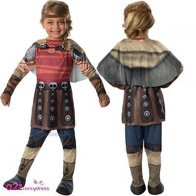 GIRLS ASTRID HOW TO TRAIN YOUR DRAGON 2 VIKING KIDS FANCY DRESS COSTUME - Astrid 2 Kostüm