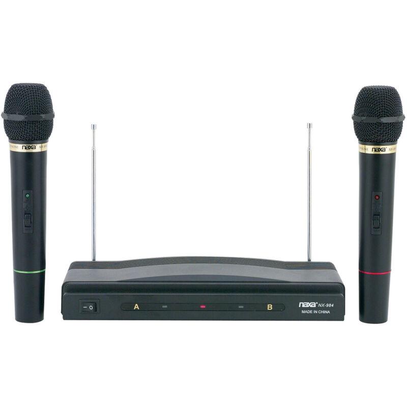Naxa Professional Dual Wireless Microphone Kit w/ Wireless Receiver