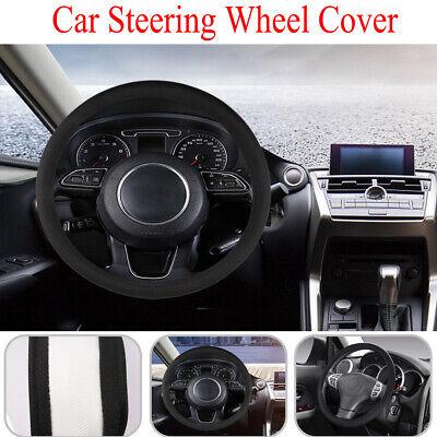 Sporty Car Steering Wheel Cover Best Black Luxury Genuine Leather Universal
