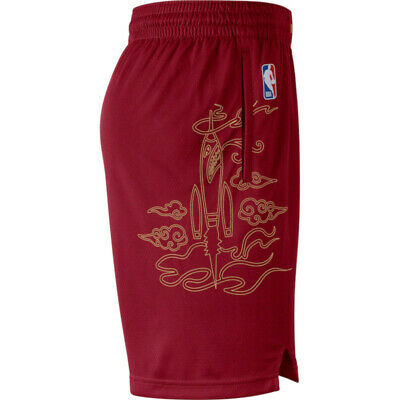 NEW Nike Houston Rockets City Edition Swingman Performance Shorts Red Sz M