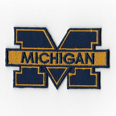 - NCAA Michigan Wolverines Iron on Patches Embroidered Badge Patch Applique Blue