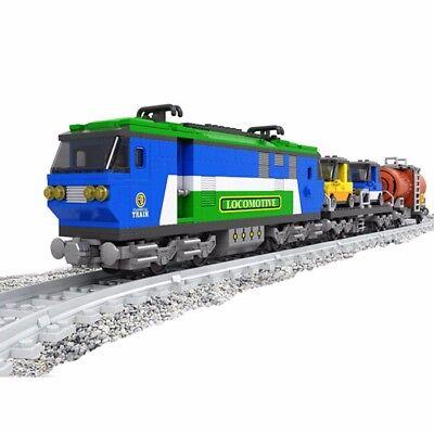 573 Pcs Classical Train W  Track Express Locomotive Train Building Toy Model