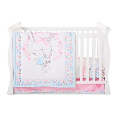 Little Wonders Little Friends 3-Piece Baby Crib Bedding Set - Rabbit Bunny