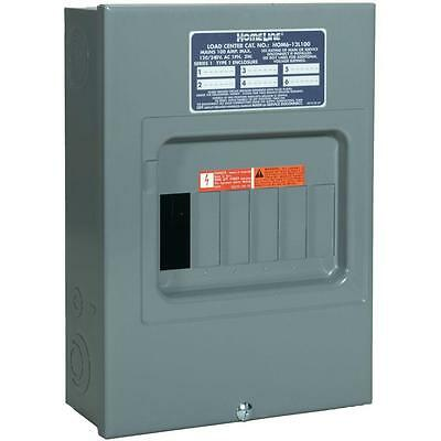 Squared Homeline 100-amp 6space 12-circuit Indoor Main-breaker Panel Load-center