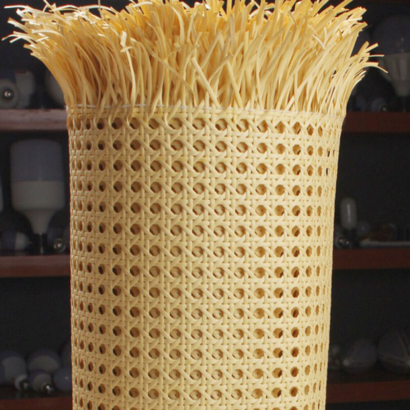 Plastic Artificial Weave Rattan Cane Webbing Sheet Panels Material DIY Decor