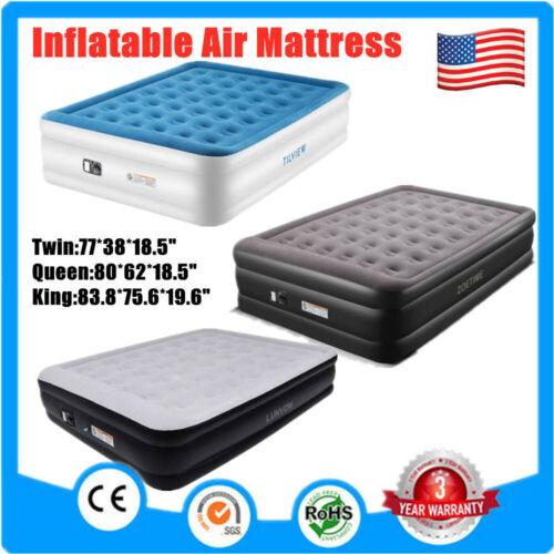 King/Queen/Twin Size Air Mattress Raised Pillow Air bed Infl