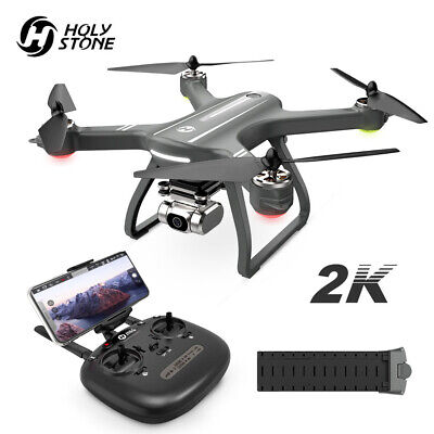 Consecrated Stone HS700D Brushless GPS FPV Drone with WiFi 2K HD Camera Quadcopter Grey