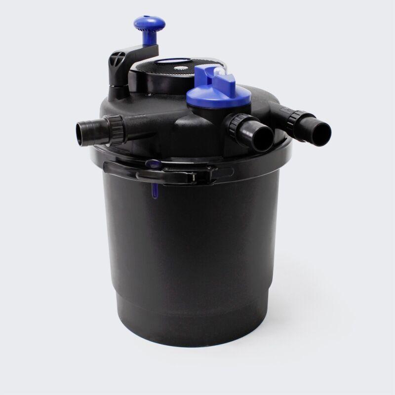 1600 Gal Bio Pond Filter Pressurized 13w UV Clarifier Free 13 watt Spare Bulb
