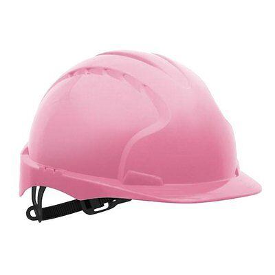 Pink Hard hat JSP Evo 2 safety hard hat pink colour comfort helmet