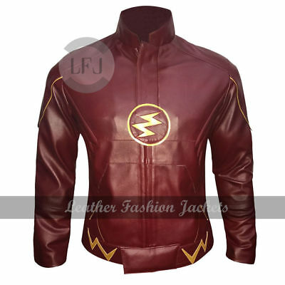 Flash Series Decrum Grant Gustin Barry Allen halloween costume Leather Jacket