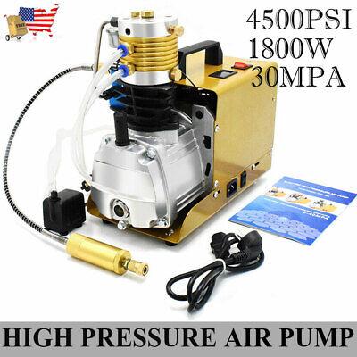 Autoshut 30mpa Air Compressor High Pressure Pump Kit 110v Electric Pcp 1.8kwus