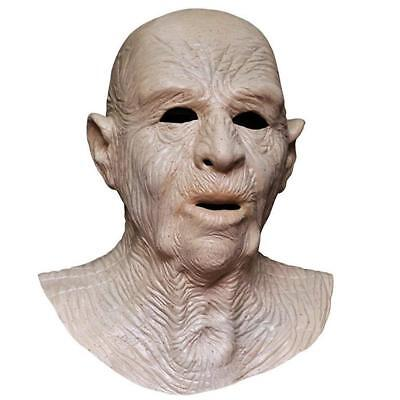 Realistic Latex Bald Old Man Halloween Mask Fancy Dress Costume Party - Bald Old Man